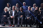 Carole Rothman, Tony Goldwyn, Lynne Nottage and Brooke Shields during the Second Stage Theater Broadway lights up the Hayes Theatre at the Hayes Theartre on February 5, 2018 in New York City.