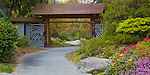 Seattle, WA<br /> Pathway and entrance gate at Kubota garden