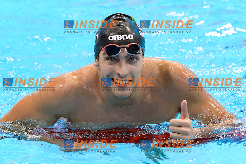 Gabriele DETTI ITA Gold Medal <br /> 400M Freestyle Men Final <br /> London, Queen Elizabeth II Olympic Park Pool <br /> LEN 2016 European Aquatics Elite Championships <br /> Diving  <br /> Day 08 16-05-2016<br /> Photo Andrea Staccioli/Deepbluemedia/Insidefoto