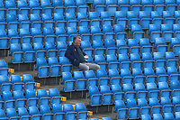 A lone spectator looks on during Yorkshire CCC vs Essex CCC, Specsavers County Championship Division 1 Cricket at Emerald Headingley Cricket Ground on 15th April 2018