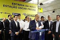 SÃO PAULO, SP, 04.04.2018: METRO-OSCAR-FREIRE - O governador Geraldo Alckmin (PSDB) e o prefeito João Doria (PSDB) inauguram na manhã desta quarta-feira, 4, a estação Oscar Freire, da Linha-4 Amarela do Metrô. Nos primeiros 15 dias, os trens irão funcionar em operação assistida, das 10h às 15h, de segunda a domingo. (Foto: Fábio Vieira/FotoRua)