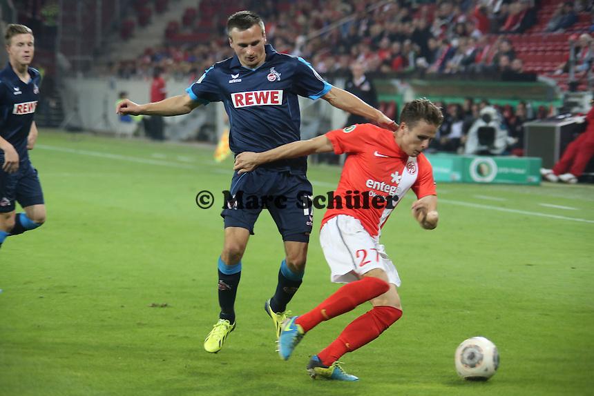 Slawomir Peszko (Köln) gegen Nicolai Müller (Mainz) - 1. FSV Mainz 05 vs. 1. FC Köln, Coface Arena, 2. Runde DFB-Pokal