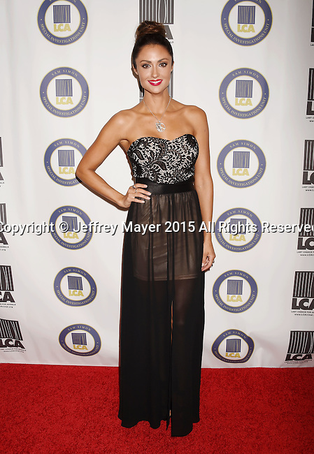 BEVERLY HILLS, CA - OCTOBER 24: Actress Katie Cleary attends the Last Chance for Animals Benefit Gala at The Beverly Hilton Hotel on October 24, 2015 in Beverly Hills, California.