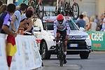 Fernando Gaviria (COL) UAE Team Emirates badly injured during Stage 1 of La Vuelta 2019, a team time trial running 13.4km from Salinas de Torrevieja to Torrevieja, Spain. 24th August 2019.<br /> Picture: Eoin Clarke | Cyclefile<br /> <br /> All photos usage must carry mandatory copyright credit (© Cyclefile | Eoin Clarke)