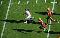 Nov. 28, 2009; Tempe, AZ, USA; Arizona Wildcats running back (2) Keola Antolin runs for a first quarter touchdown against the Arizona State Sun Devils at Sun Devil Stadium. Mandatory Credit: Mark J. Rebilas-