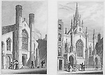 New churches Saffron Hill, Little Queen Street, Holborn, engraving 'Metropolitan Improvements, or London in the Nineteenth Century' London, England, UK 1828 , drawn by Thomas H Shepherd