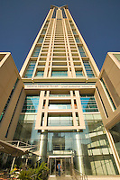 Dubai.  Marina Heights Tower apartment building at Dubai Marina..