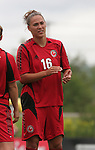 26 August 2007: Connecticut's Niki Cross. The Washington Freedom played the Connecticut Sun in the Hall of Fame Game as part of the National Soccer Hall of Fame Induction Weekend at the National Soccer Hall of Fame in Oneonta, New York.