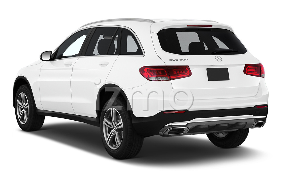 Car pictures of rear three quarter view of 2020 Mercedes Benz GLC-Class GLC300 5 Door SUV Angular Rear