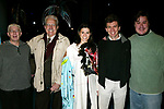 Past Gypsy Robe Winners: Bill Nobel, Jack Dadoub, Milena Govich, Robin Haynes and Merwin Foard Attending the Opening Night Gypsy Robe Ceremony for DIRTY ROTTEN SCOUNDRELS at the Imperial Theatre in New York City.<br />