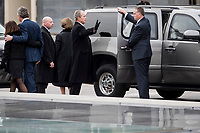 Former President George W. Bush waves to the crowd gathered to view the remains of President George H.W. Bush be transported from the U.S. Capitol to the National Cathedral Wednesday December 5, 2018. <br /> CAP/MPI/RS<br /> &copy;RS/MPI/Capital Pictures
