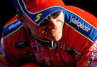 Nov. 13, 2009; Avondale, AZ, USA; NASCAR Sprint Cup Series driver Mark Martin during qualifying for the Checker O'Reilly Auto Parts 500 at Phoenix International Raceway. Mandatory Credit: Mark J. Rebilas-