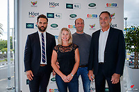 Luke Meurant (Marketing Manager for Land Rover New Zealand); Jonelle and Tim Price; David Mee (Event Director for Horse of the Year Show). Land Rover New Zealand and The Horse of the Year Show announce that Tim and Jonelle Price will be competing at the 2019 Land Rover Horse of the Year Show in the Eventing, during the Official Media Release Press Conference that took place at Archibald and Shorter Land Rover, Greenlane, Auckland. Wednesday 12 December 2018. Copyright Photo: Libby Law Photography