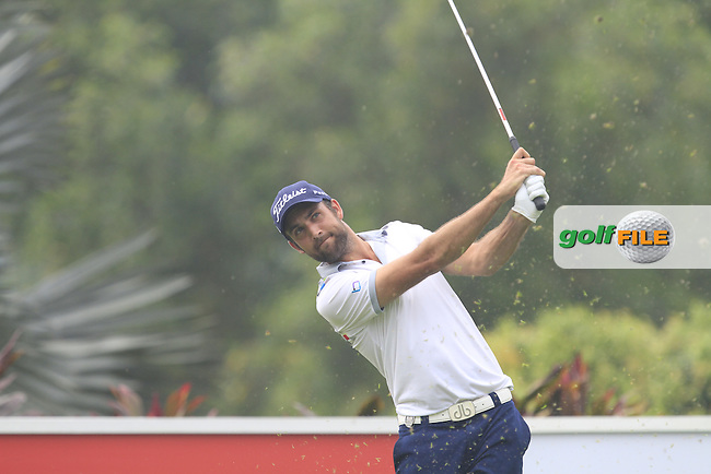 Stephen Lewton (ENG) on the 4th tee during Round 3 of the CIMB Classic in the Kuala Lumpur Golf &amp; Country Club on Saturday 1st November 2014.<br /> Picture:  Thos Caffrey / www.golffile.ie