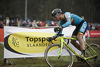 Sven Nys (BEL/Crelan-AAdrinks) is riding an impressive very last Worlds (&amp; will finish 4th at 39 yrs old)<br /> <br /> Men's Elite Race<br /> <br /> UCI 2016 cyclocross World Championships,<br /> Zolder, Belgium