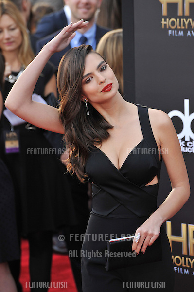 Emily Ratajkowski at the 2014 Hollywood Film Awards at the Hollywood Palladium.<br /> November 14, 2014  Los Angeles, CA<br /> Picture: Paul Smith / Featureflash