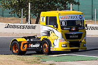 French driver Anthony Janiec belonging Portugese team Lion Truck Racing during the super pole SP1 of the XXX Spain GP Camion of the FIA European Truck Racing Championship 2016 in Madrid. October 01, 2016. (ALTERPHOTOS/Rodrigo Jimenez) /NORTEPHOTO.COM