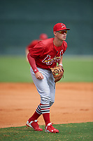 St. Louis Cardinals third baseman Cole Lankford (22) during a Minor League Spring Training intrasquad game on March 31, 2016 at Roger Dean Sports Complex in Jupiter, Florida.  (Mike Janes/Four Seam Images)