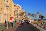 Beach and seafront apartments city of Almeria, Spain