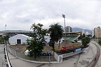 Rio de Janeiro (RJ), 17/04/2020 - Covid-19-Rio -  Hospital Campanha RJ - Decimo oitavo dia de montagem do Hospital de campanha no Maracana para tratar pacientes de coronavirus. Os 400 leitos serao erguidos no espaco onde ficava o estadio de Atletismo Celio de Barros.,zona norte do Rio de Janeiro, nesta quarta-feira (17) (Foto: Alexandre Durao/Codigo 19/Codigo 19)