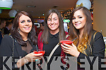 Pictured at the Cube bar, Killarney on New Year's Eve were l-r: Laura O'Sullivan (Macroom) Joanne Down (Macroom) and Katie Moynihan (Macroom)