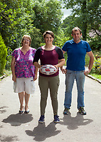 Ciara Griffin, International Rugby Player, pictured with her parents Kathleen and Denis at home on the family farm near Ballymacelligott, Tralee County Kerry.<br /> Photo: Don MacMonagle