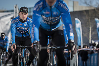 Michael Goolaerts (BEL/Willems Veranda's-Crelan), pre race, <br /> <br /> 70th Kuurne-Brussel-Kuurne 2018 (1.HC)