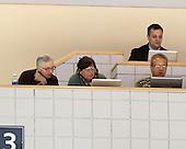 "John ""Jocko"" Connolly (Boston Herald), Barbara Matson (Boston Globe), Brian Kelley (BU - SID), Dave Hendrickson (USCHO) - The visiting University of Massachusetts Lowell River Hawks defeated the Boston University Terriers 3-0 on Friday, February 22, 2013, at Agganis Arena in Boston, Massachusetts."