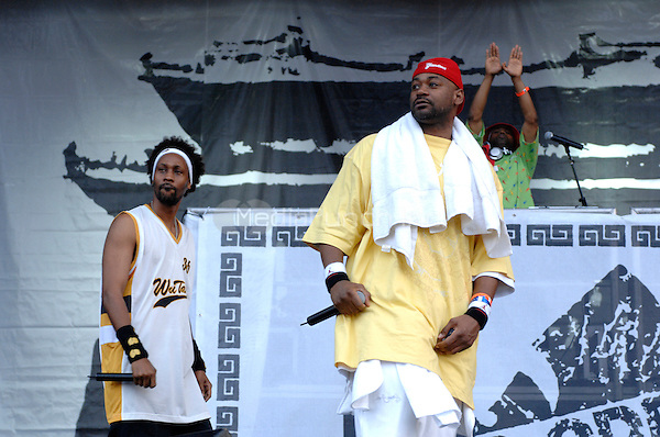 Wu Tang Clan performing live at the Rock the Bells festival at Randall's Island in New York City on July 28, 2007.  © David Atlas / MediaPunch