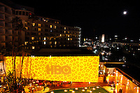A rooftop view with a full moon of the HBO Golden Globes after party at the Beverly Hilton Hotel, Beverly Hills, California, USA, on January 11, 2009.  The Golden Globes honour excellence in film and television.