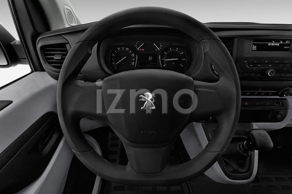 Car pictures of steering wheel view of a 2016 Peugeot Expert Premium 4 Door Cargo Van Steering Wheel