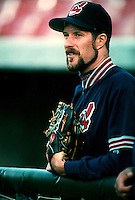 Jack McDowell of the Cleveland Indians during a game at Anaheim Stadium in Anaheim, California during the 1997 season.(Larry Goren/Four Seam Images)