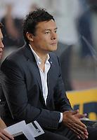 FUSSBALL   1. BUNDESLIGA  SAISON 2011/2012   7. Spieltag     23.09.2011 VfB Stuttgart - Hamburger SV Trainer Rodolfo Esteban Cardoso (Hamburger SV) nachdenklich