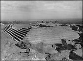 The ancestor of the pyramids, the mastaba of Nebetka, vizir to Pharaoh Den (Irst dynasty, 3,050 B.C.) Discovered during the autumn by British archeologist Walter Emery, this monument announced through its architectural style the stepped structure which the architect Imhotep would use three centuries later in the pyramid dedicated to Djoser.....CHADOUF MOHAMMED/COLLECTION PATRICK CHAPUIS-PHILIPPE FLANDRIN