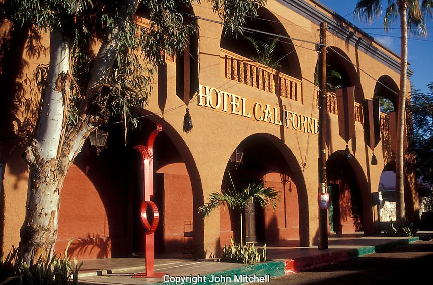 The Hotel California in the Spanish colonial town of Todos Santos , Baja California Sur, Mexico