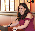 Lindsay Mendez during the 2018 Outer Critics Circle Theatre Awards presentation at Sardi's on May 24, 2018 in New York City.