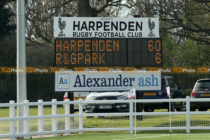 Harpenden RFC vs Romford & Gidea Park RFC, London 2 Promotion Play-Off Rugby Union at Redbourn Lane on 13th April 2019