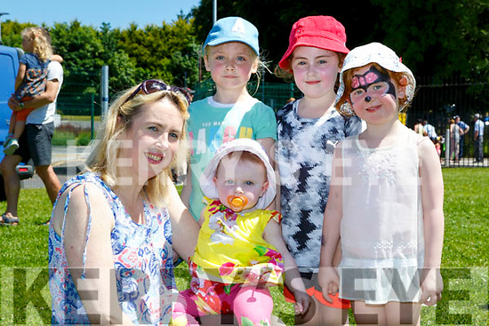 kay and Sinead O'Sullivan, Aisling Dwyer, Emer O'sullivan and Isabel Harty enjoying the sun at the Nano Nagle NS Milltown funday on Sunday
