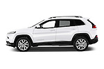 Car driver side profile view of a 2015 Jeep Cherokee Limited 5 Door SUV