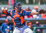 15 March 2016: Houston Astros catcher Jason Castro in action during a Spring Training pre-season game against the Washington Nationals at Osceola County Stadium in Kissimmee, Florida. The Astros fell to the Nationals 6-4 in Grapefruit League play. Mandatory Credit: Ed Wolfstein Photo *** RAW (NEF) Image File Available ***