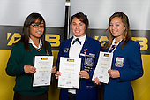 Girls Touch finalists Talisua Tipelu, Kahurangi Watene & Ashlynn Woodham-Enosa. ASB College Sport Young Sportperson of the Year Awards 2008 held at Eden Park, Auckland, on Thursday November 13th, 2008.