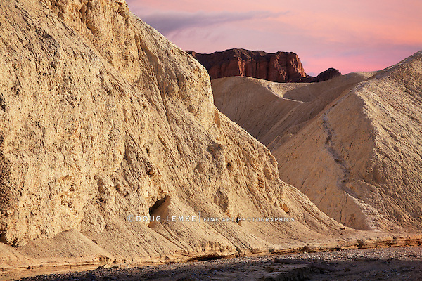 The Eerily Beautiful, Mars-Like Landscape Of Golden Canyon In The Morning, Death Valley National Park, California
