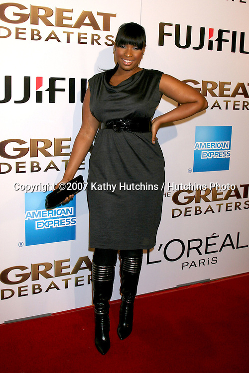 """Jennifer Hudson.""""The Great Debaters"""" Premiere.ArcLight Cinerama Dome Theater.December 11, 2007.Los Angeles, CA.©2007 Kathy Hutchins / Hutchins Photo..."""