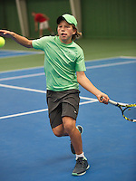 20131201,Netherlands, Almere,  National Tennis Center, Tennis, Winter Youth Circuit, Yannick Verwater <br /> Photo: Henk Koster