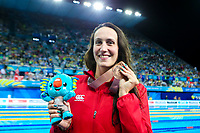 Picture by Alex Whitehead/SWpix.com - 10/04/2018 - Commonwealth Games - Swimming - Optus Aquatics Centre, Gold Coast, Australia - Georgia Davies of Wales wins Bronze in the Women's 50m Backstroke final.