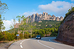 The saw-toothed mountain of Montserrat, near Barcelona, Catalonia, the first national park established in Spain.