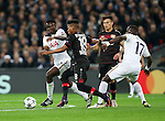 Tottenham's Victor Wanyama tussles with Leverksen's Wendell during the Champions League group E match at the Wembley Stadium, London. Picture date November 2nd, 2016 Pic David Klein/Sportimage