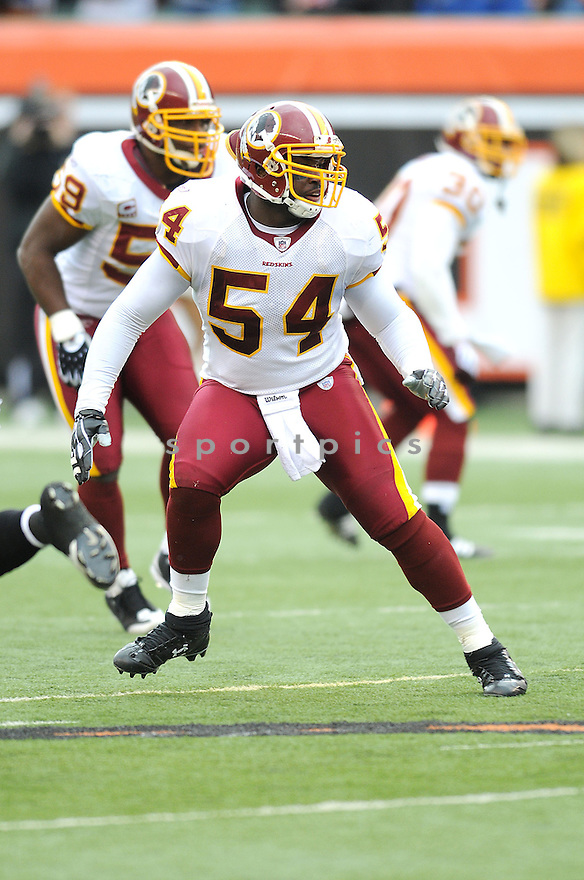 H.B.BLADES, of the Washington Redskins , in action  during the Redskins game against the  San Francisco 49ers  on December 14, 2008 in Cincinnati, OH...49ers win 27-24