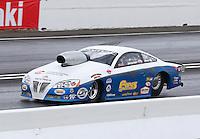 May 31, 2014; Englishtown, NJ, USA; NHRA pro stock driver John Gaydosh during qualifying for the Summernationals at Raceway Park. Mandatory Credit: Mark J. Rebilas-