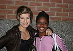 "Kelley Missal ""Danielle Rayburn"" and Shenell Edmonds ""Destiny Evans"" leaving One Life To Live Studio, New York City, New York on April 15, 2010. (Photos by Sue Coflin/Max Photos)"